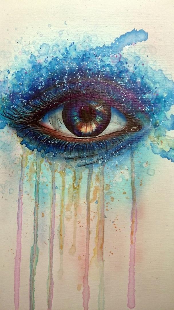Auge in blau...