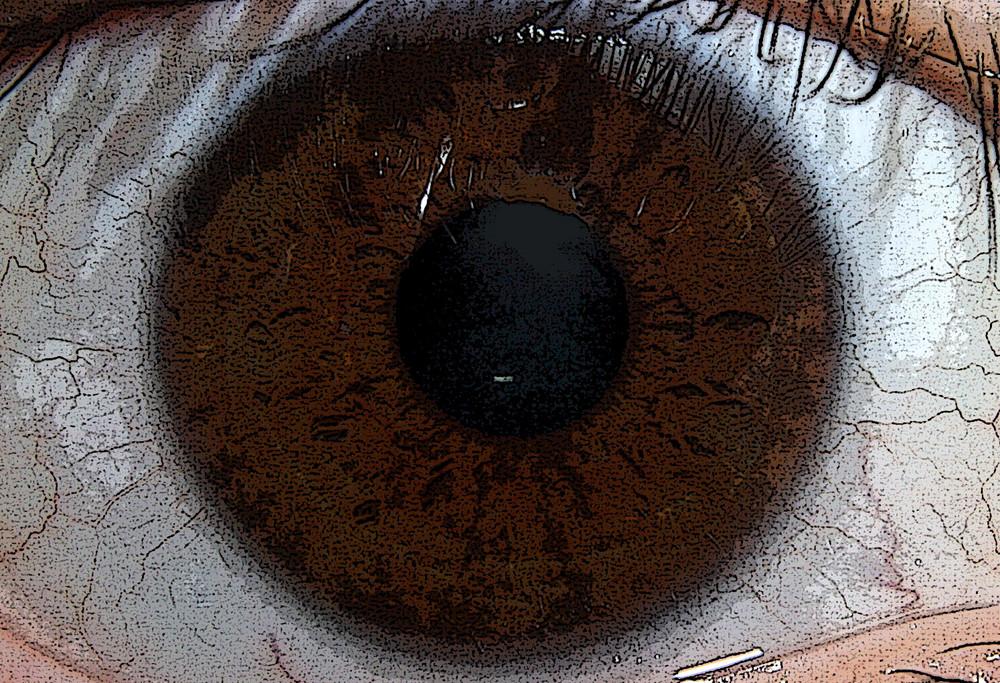 Auge - verfremdet