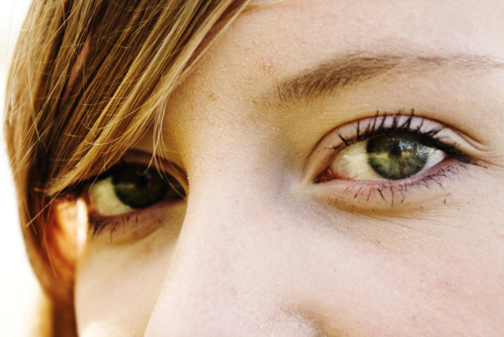 Augen Im Glanz Des Schwedischen Lichtes