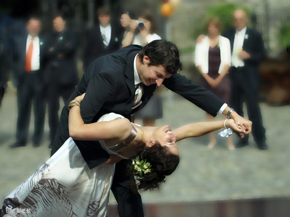 Augenblick von  einer Hochzeit.