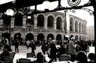 Augenblick vor der Arena in Verona