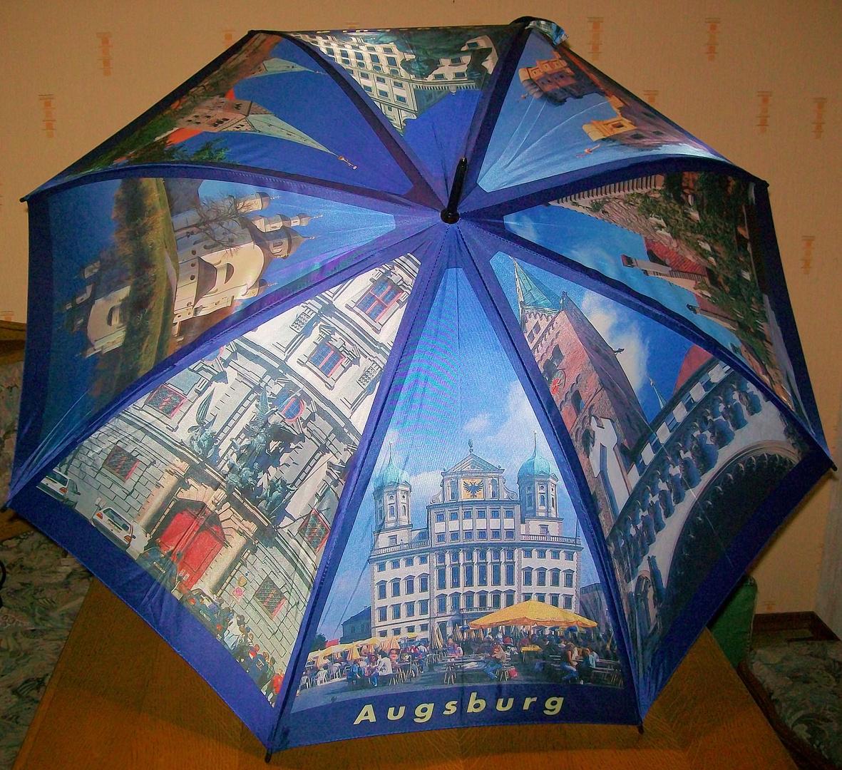 Augsburg - Motive auf einem Regenschirm