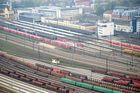 Augsburger Bahnhof von 34. Stock