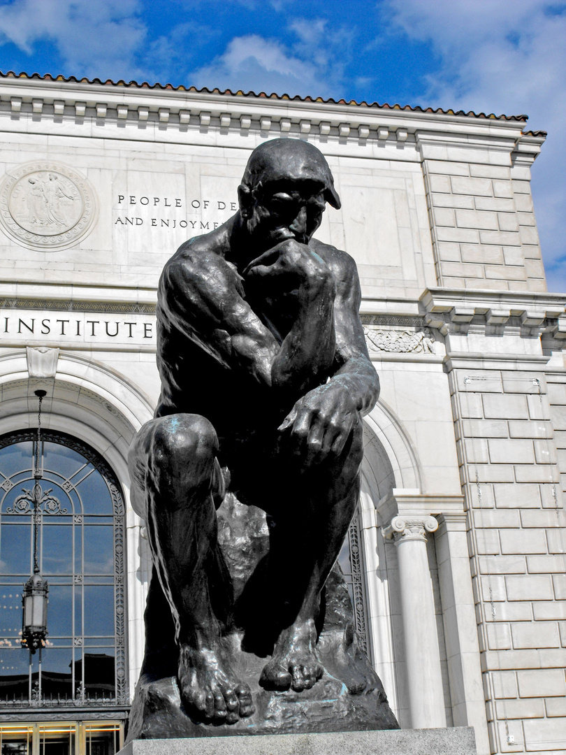August Rodin, The Thinker, 1904, Detroit Institute of Arts