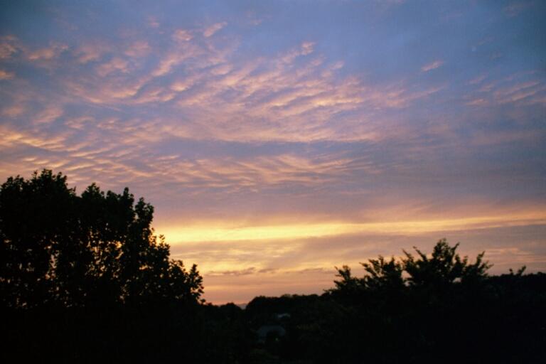 August-Sonnenuntergang
