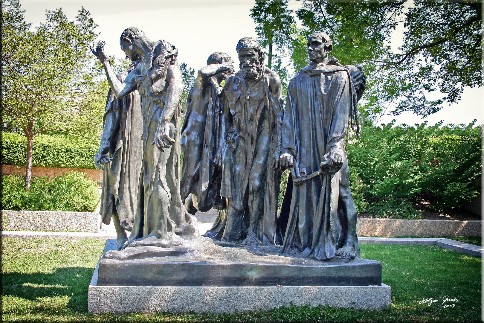 Auguste Rodin - The Burgher of Calais at Hirshhorn Art Gallery Washington DC