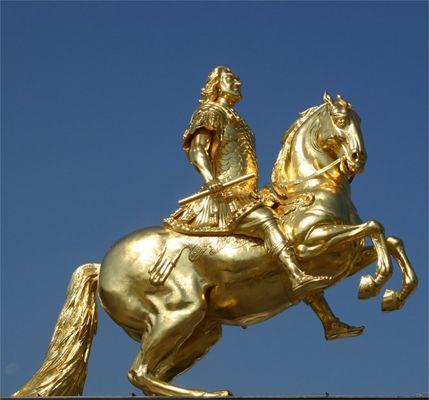 Augustus Statue in der Neustadt
