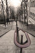 ..aujourd'hui escalier en hiver