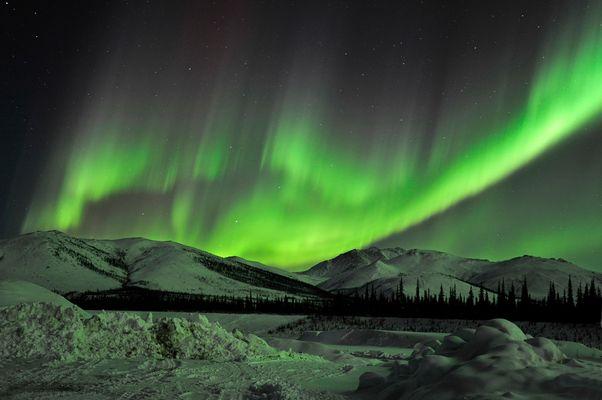 Aurora borealis im Polargebiet