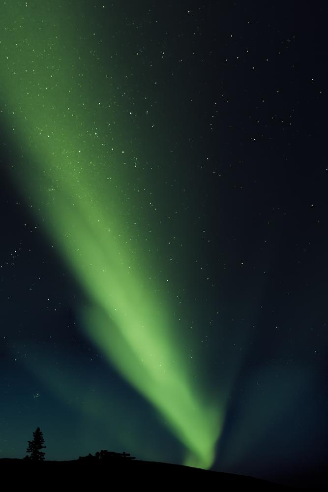 Aurora Borealis im Sommer