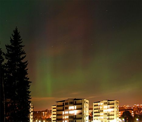 Aurora Borealis - Northern Lights above Stockholm