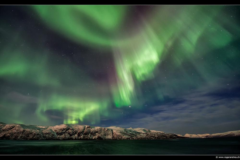 Aurora borealis Region um Tromsø - 8