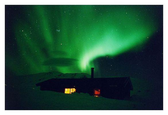 Aurora Borealis über Cunojaure