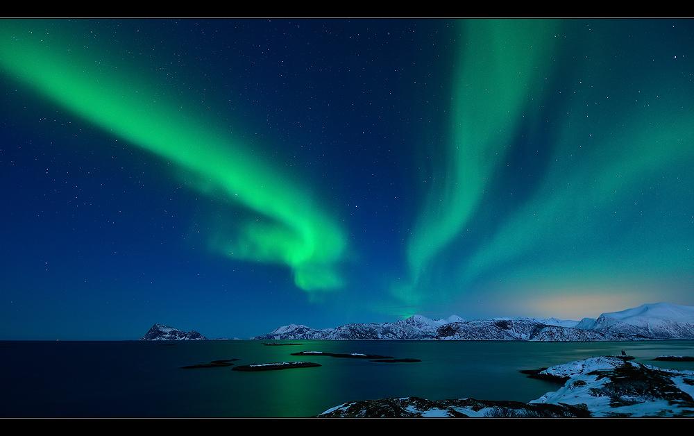 Aurora über Håja...