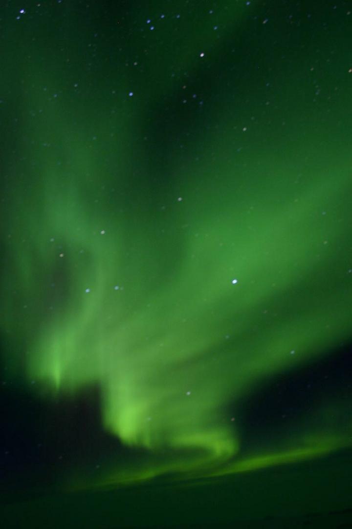aurore boréal sur le continent antarctique