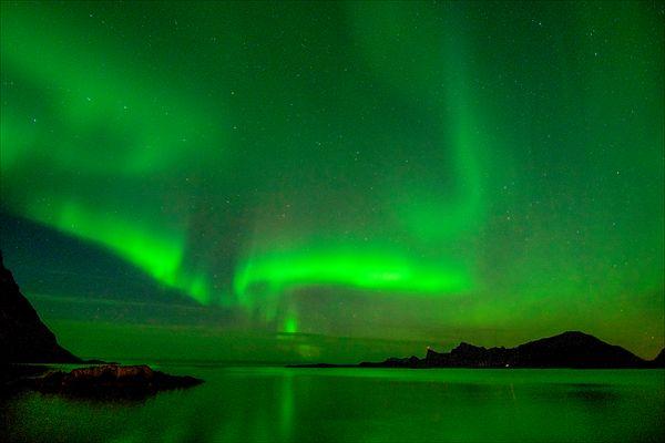 Aurore sur les îles Lofoten
