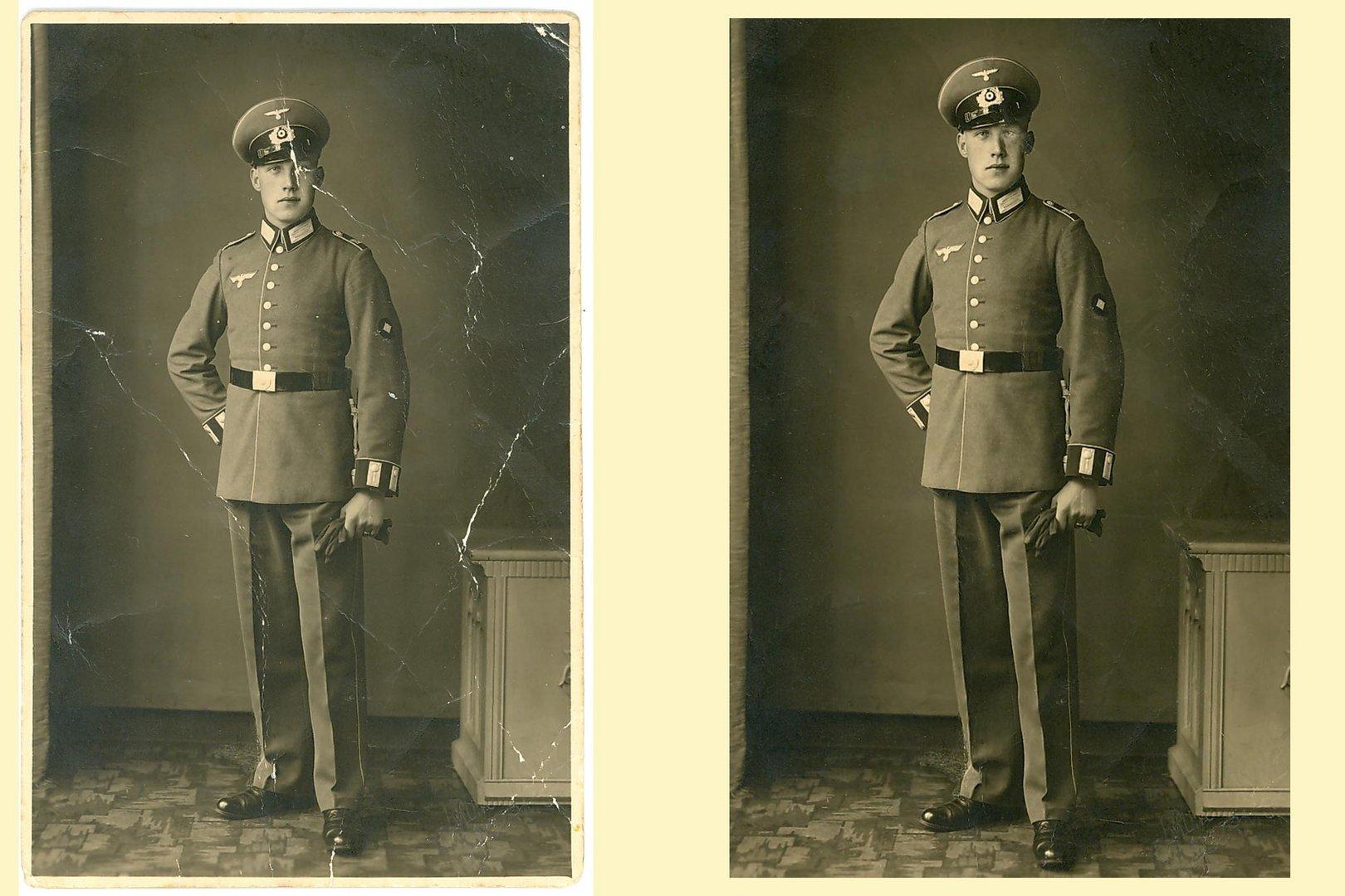 Aus alt macht neu, mein Opa (das Bild müsste gegen Ende der 30er Jahre entstanden sein)