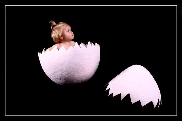 Aus dem Ei gepellt:-)