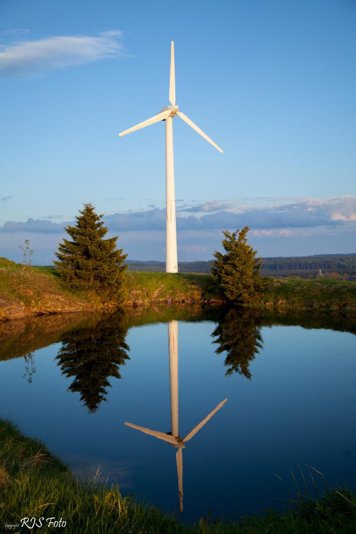 Aus dem ersten Windpark Sachsen's (erbaut August 1992)