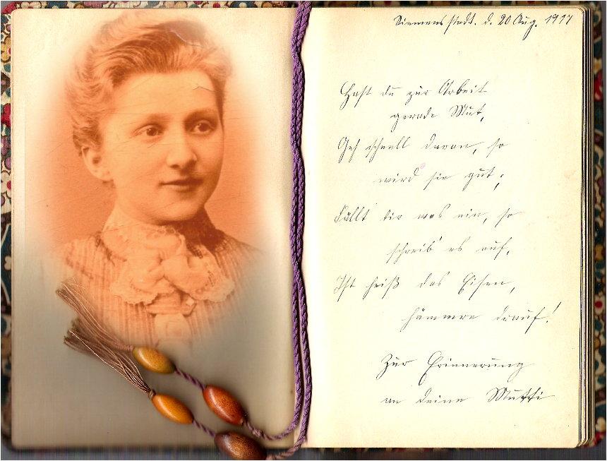 aus dem Poesiealbum meiner Mutter - 2