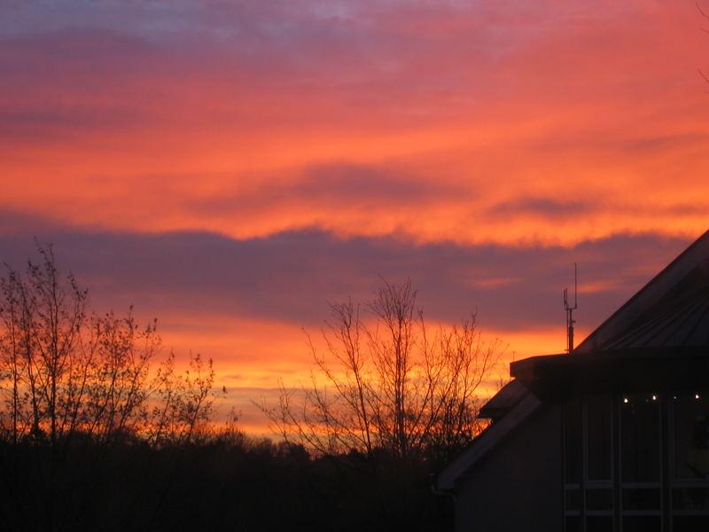 Aus dem Wohnzimmerfenster am Samstag Morgen