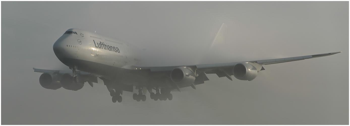 Aus den Nebel heraus