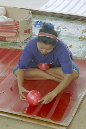 Aus frischen Kautschuk auf Luftballons Kinderbälle
