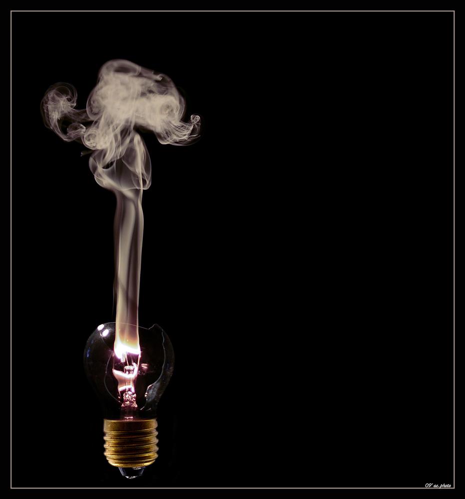 aus Licht wird Rauch