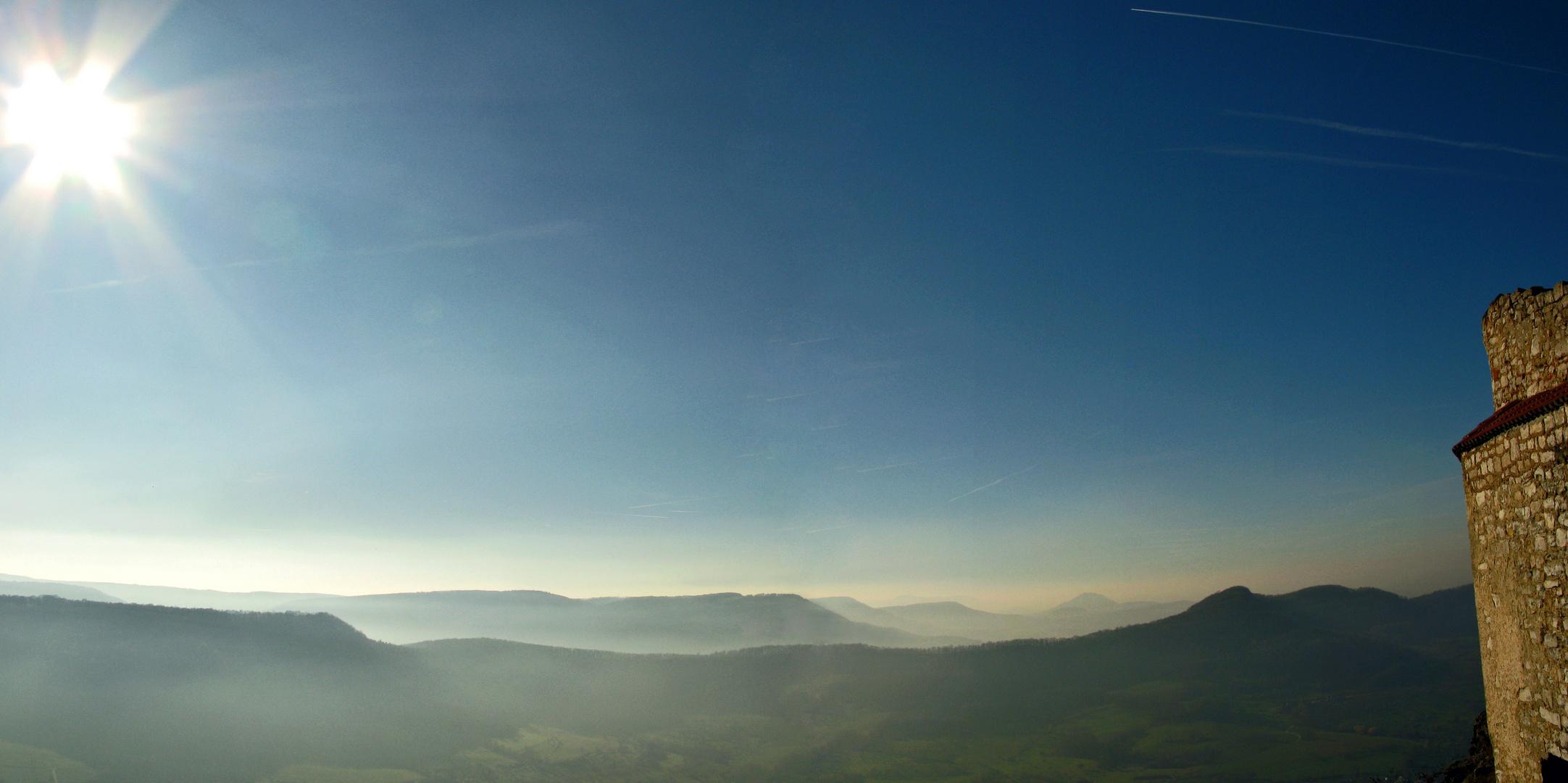 Ausblick auf Bergkette