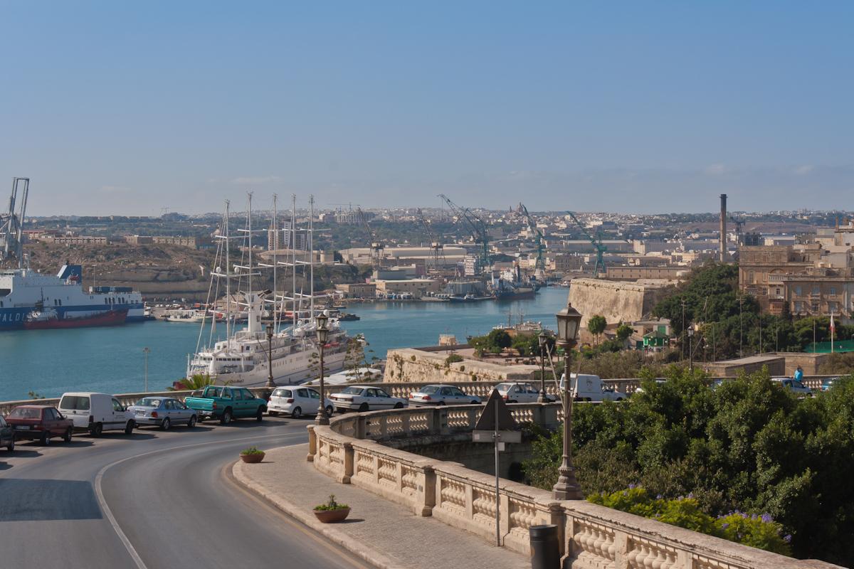 Ausblick auf den Grand Harbour und die Stadt