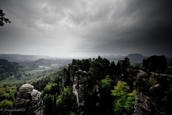 Ausblick auf die Bastei