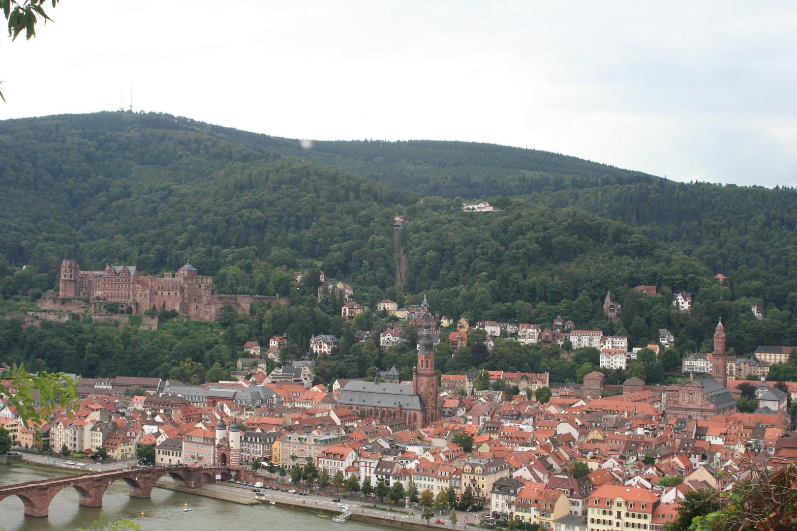 Ausblick auf Heidelberg vom Philosophenweg