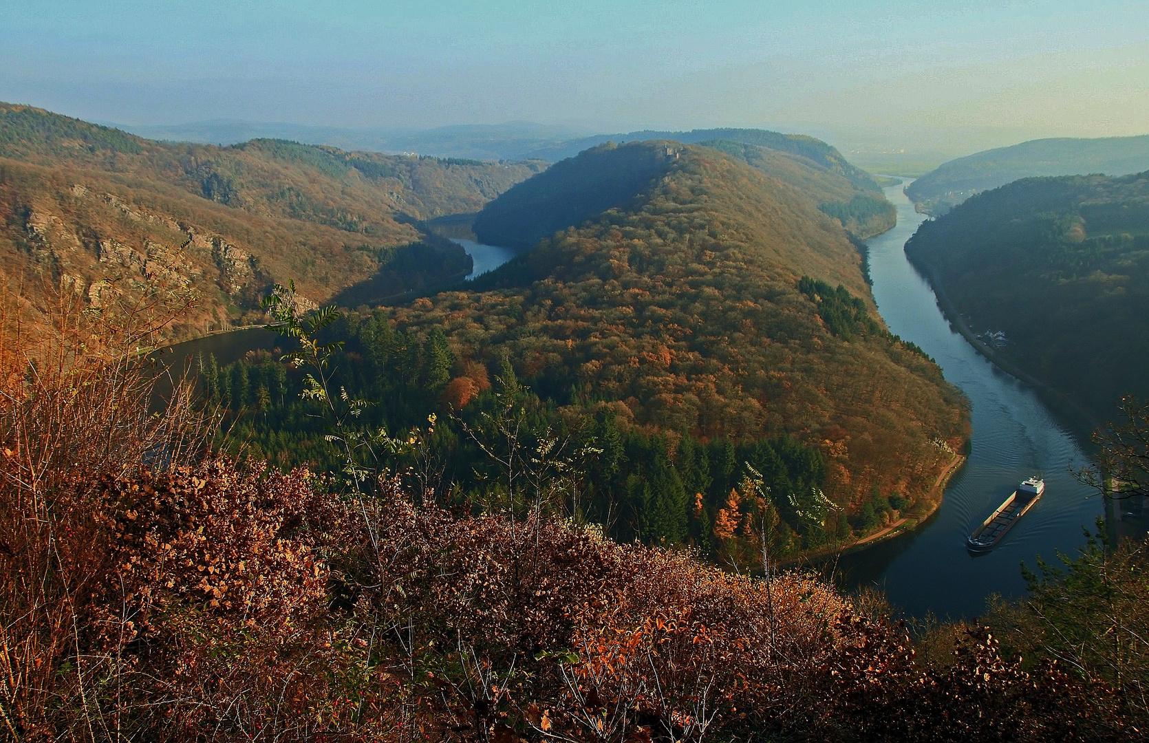 Ausblick - Herbst an der Saar
