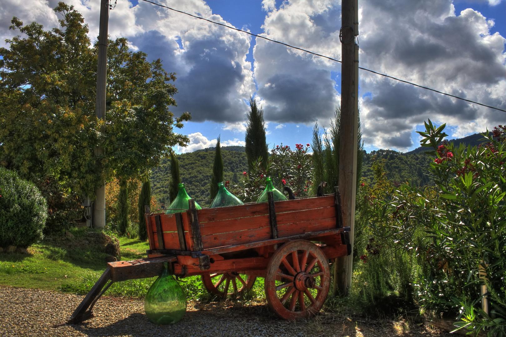 Ausblick in der Toskana