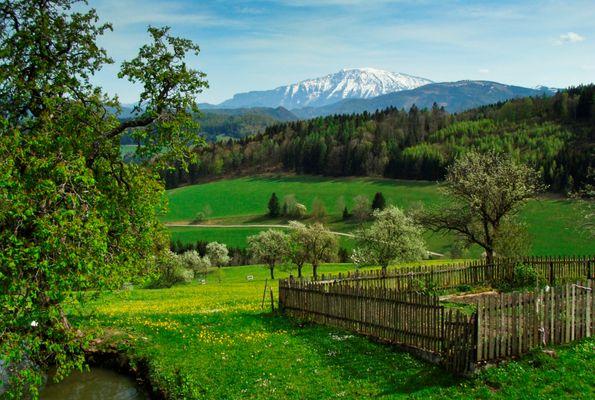 Ausblick vom Bauerngarten