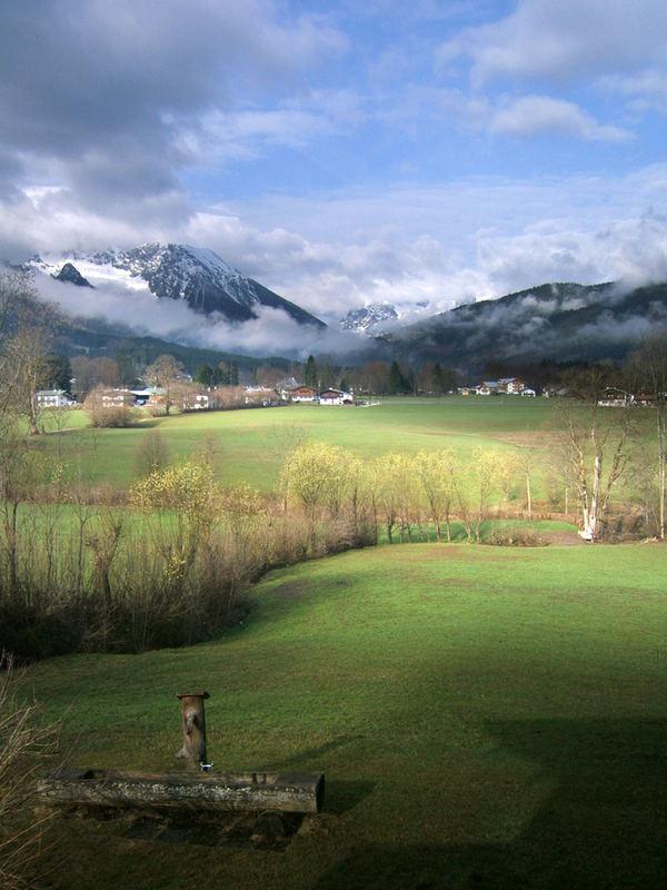 Ausblick vom Ferienhaus Berchtesgaden