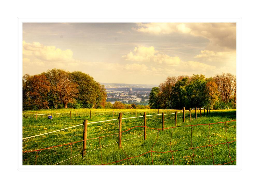 Ausblick vom Jakobshof auf das AKW Mühlheim Kärlich