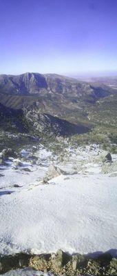 Ausblick vom Lucero im Februar