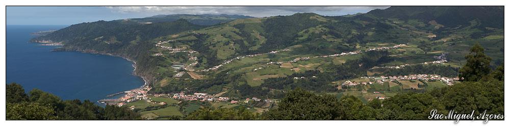 Ausblick vom Pico dos Bodes (Sao Miguel, Azoren)