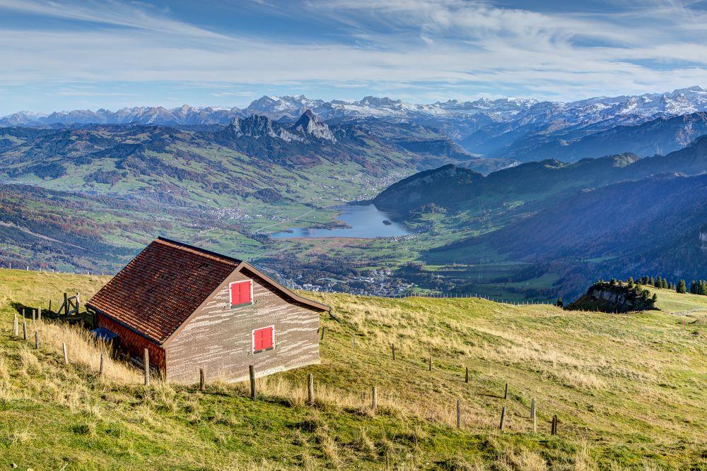Ausblick vom Rigi (Kulm) Richtung Lauerzersee