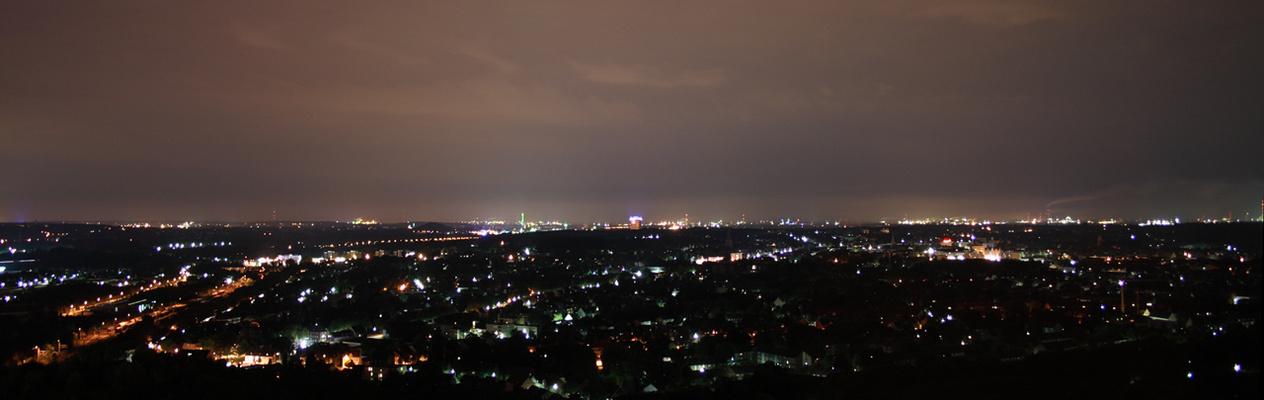 Ausblick vom Tetraeder Bottrop - Panorama