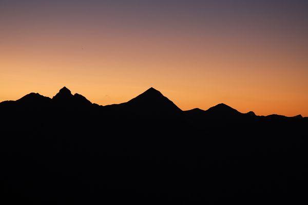 Ausblick von der Bordier-Hütte (Kanton Wallis)