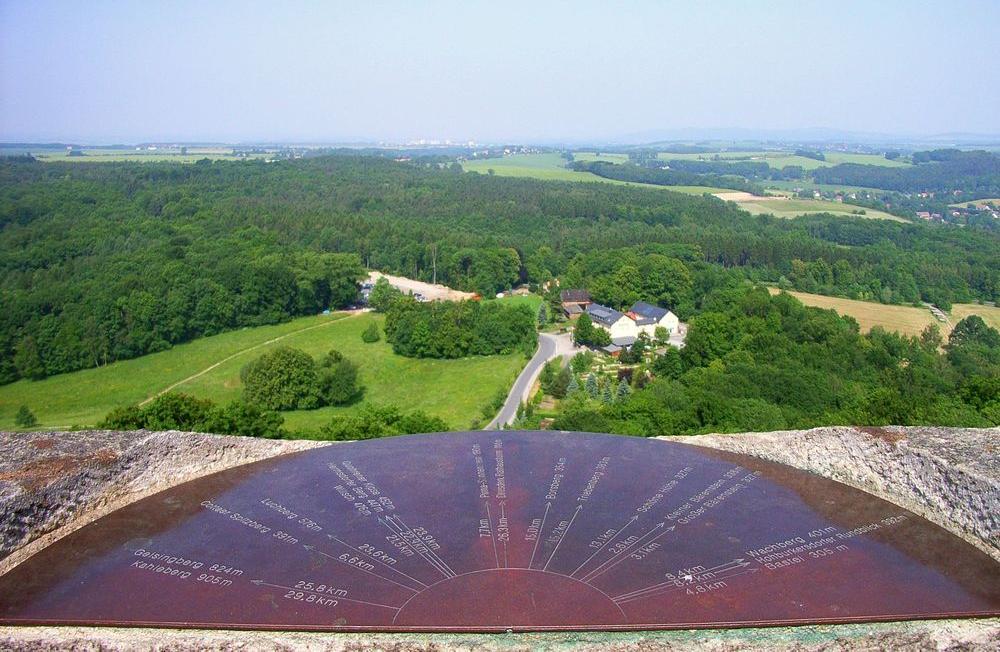 """Ausblick von der Festung Königstein mit """"Touri-Hilfe"""""""