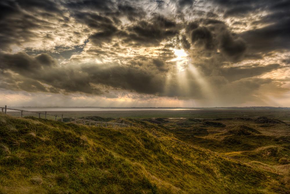 Ausblick von der Melkhörn Düne auf Langeoog