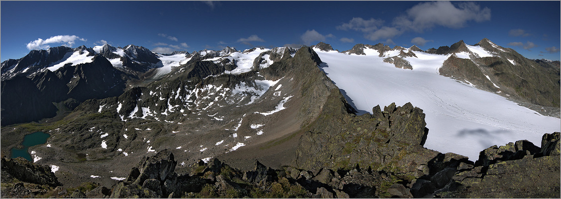 Ausblick von der Rinnenspitze Richtung süd bis west (~90°)