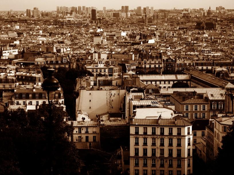 Ausblick von der Sacre Ceur auf Paris