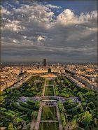 Ausblicke vom Pariser Eiffelturm