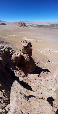 Ausblickpunkt zum Salzsee von Tara