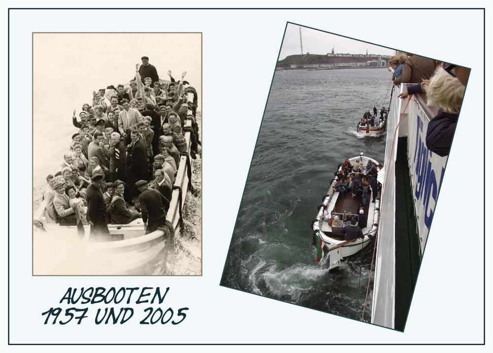 Ausbooten 1957 und 2005
