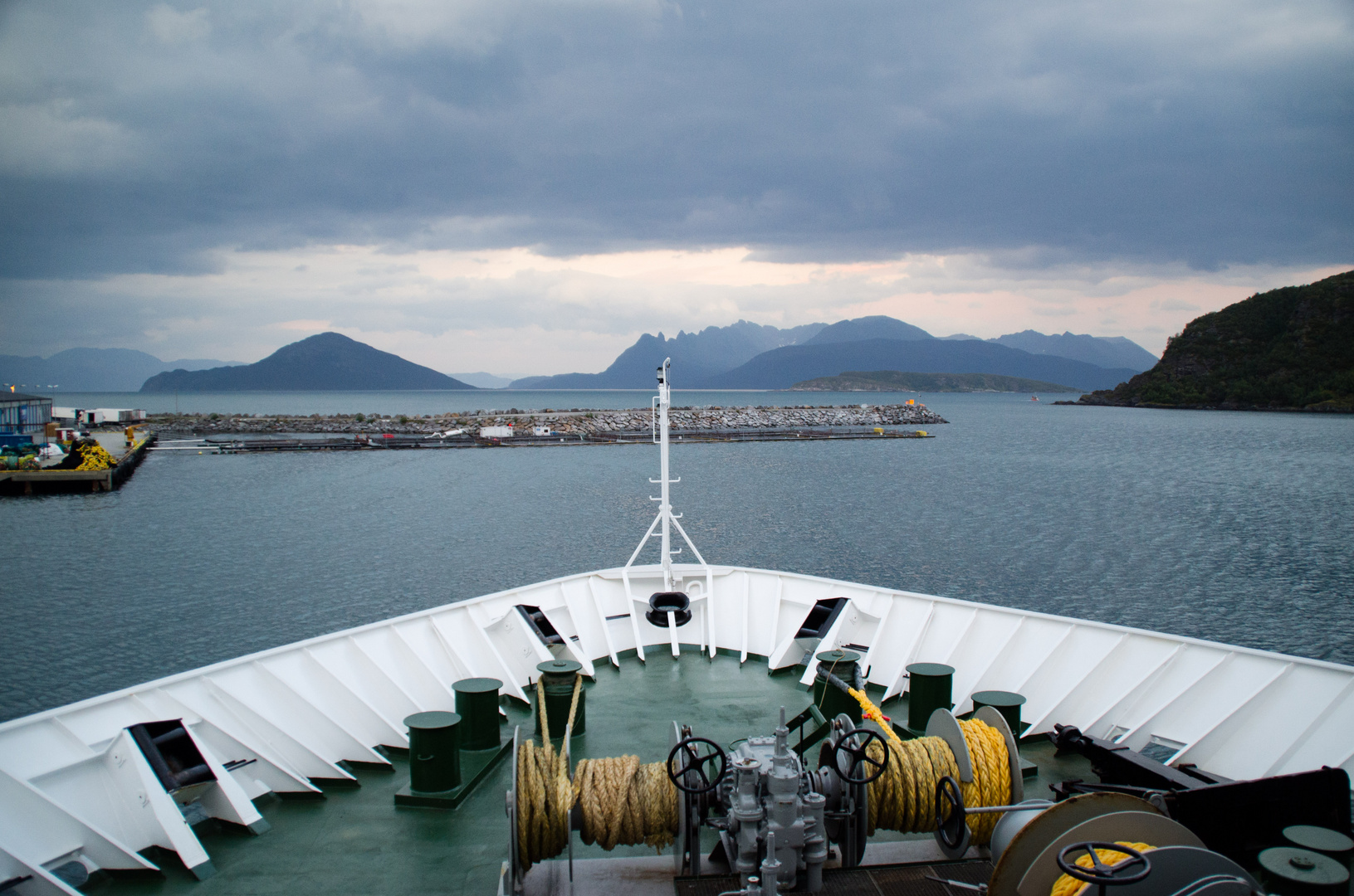 ausfahrt aus dem Hafen